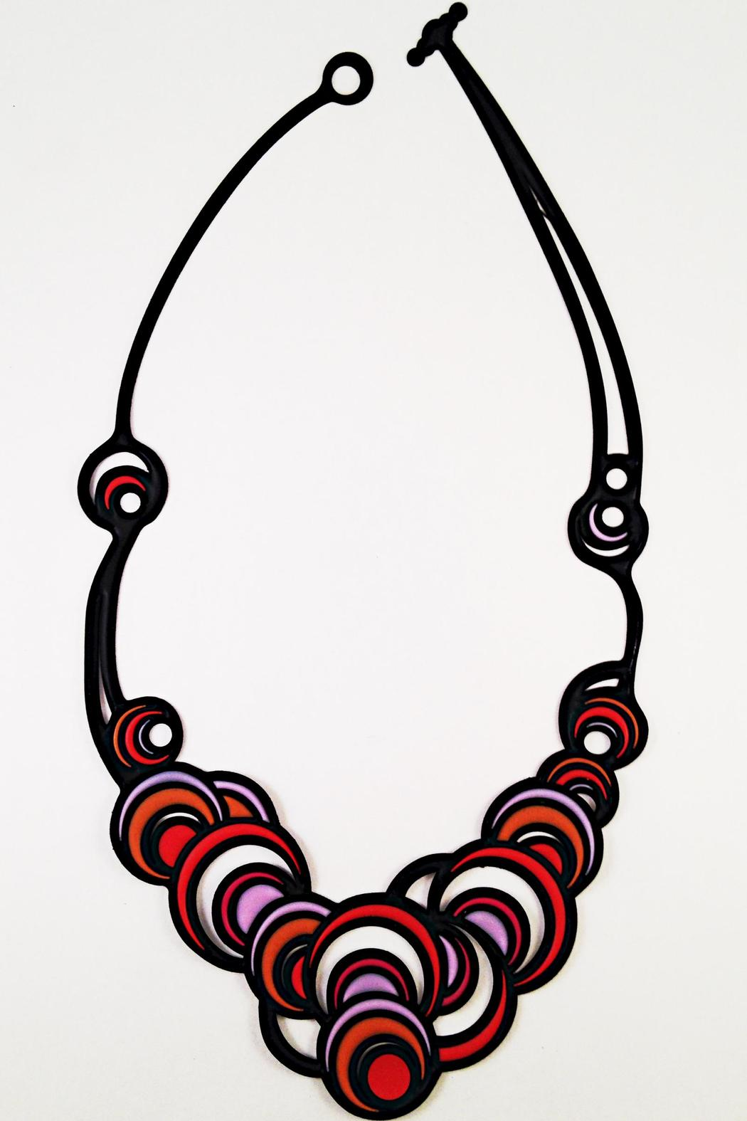 Batucada Colorful Circles Necklace - Main Image