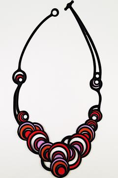 Batucada Colorful Circles Necklace - Alternate List Image