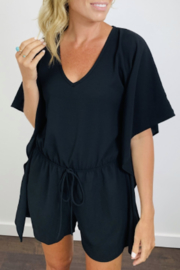 KLD Signature Batwing Elastic Waist Romper - Front cropped