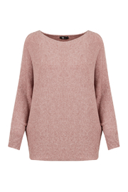 M made in Italy Batwing Knit Boatneck Sweater - Product Mini Image