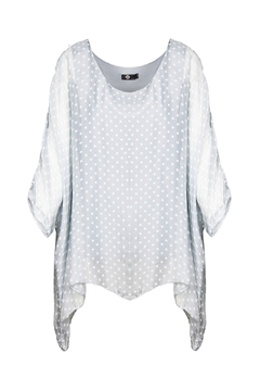 d7902fceca21a1 ... M made in Italy Batwing Layered Polka Dot Top - Product List  Placeholder Image