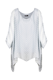 M made in Italy Batwing Layered Polka Dot Top - Product Mini Image
