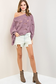 Entro Batwing Scallop-Edge Sweater - Other