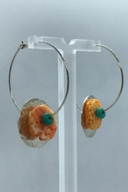 Leah Sturgis Jewelry Art Bauble Earring - Coral and Turquoise - Product Mini Image