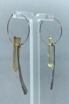 Leah Sturgis Jewelry Art Bauble Earring - Golden Quartz - Alternate List Image