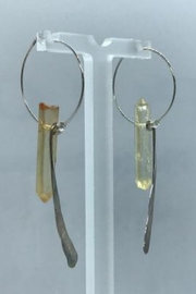 Leah Sturgis Jewelry Art Bauble Earring - Golden Quartz - Product Mini Image
