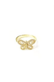 Lets Accessorize Baugette Butterfly Ring - Product Mini Image