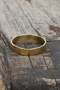 Bauxo Gold Hammered Ring - Product List Image