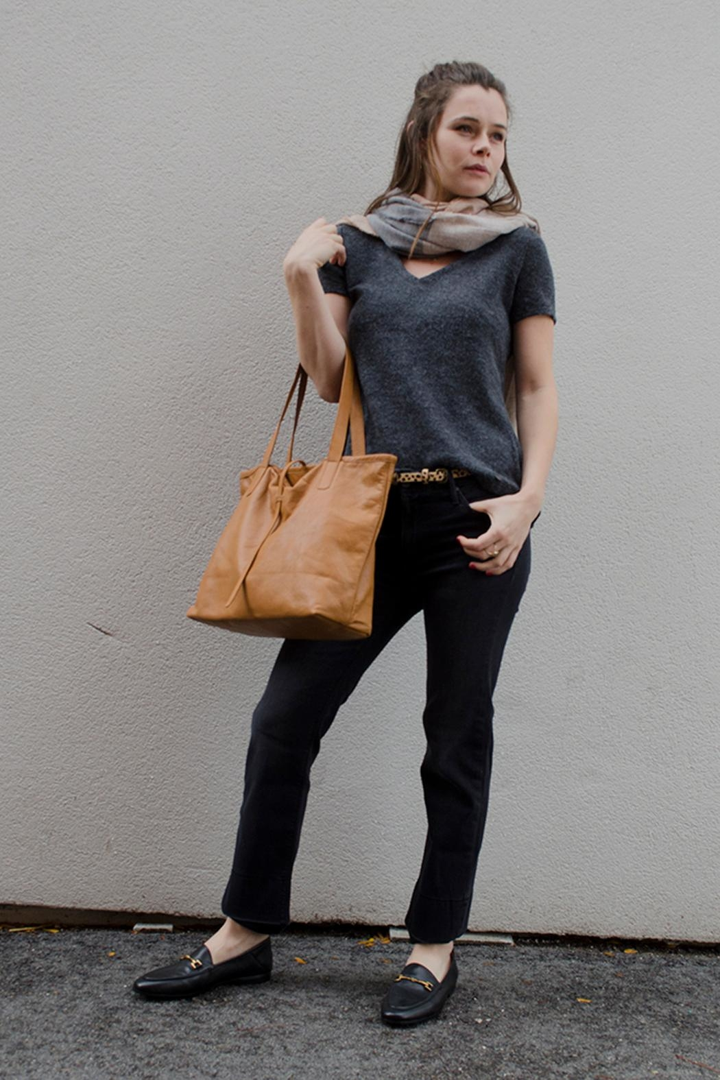 Bauxo Leather Tote - Front Full Image