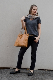 Bauxo Leather Tote - Front full body