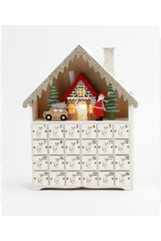 180 Degrees Bavarian Scene Wooden Advent Calendar - Front cropped