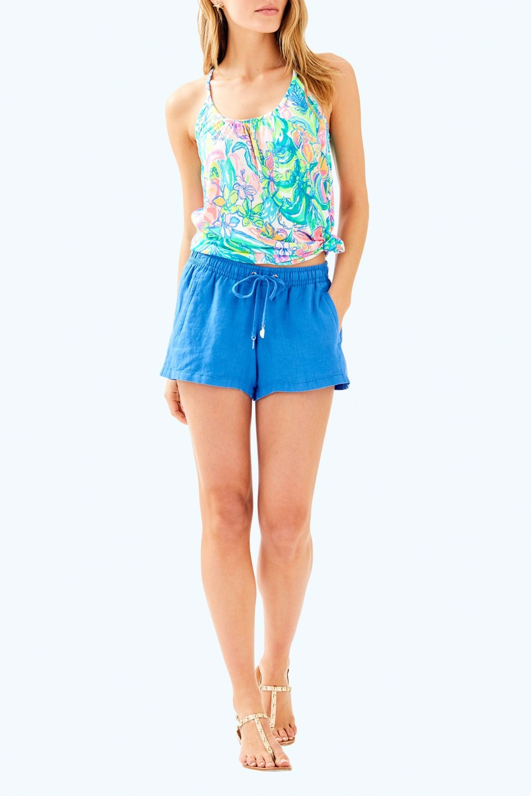 Lilly Pulitzer Baybreeze Short - Back Cropped Image
