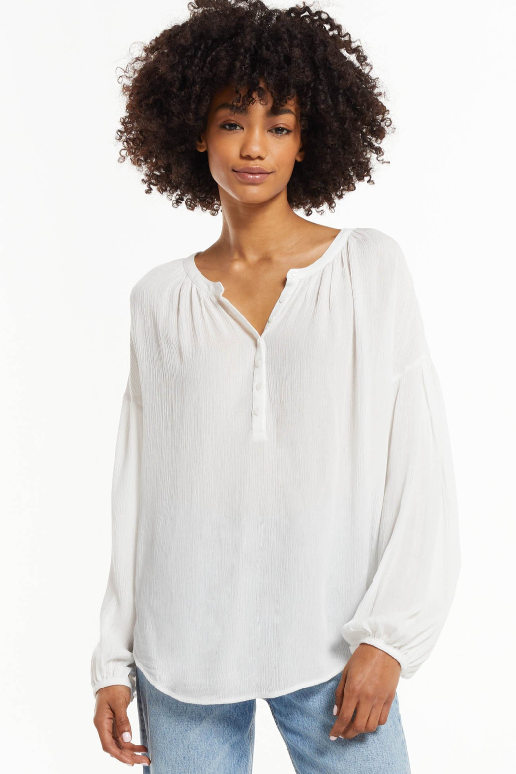 z supply Bayfront Woven Top - Front Full Image