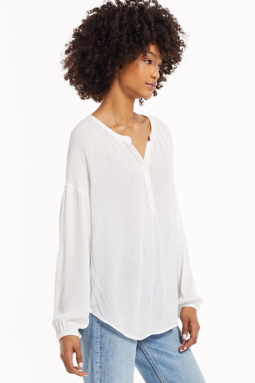 z supply Bayfront Woven Top - Side Cropped Image