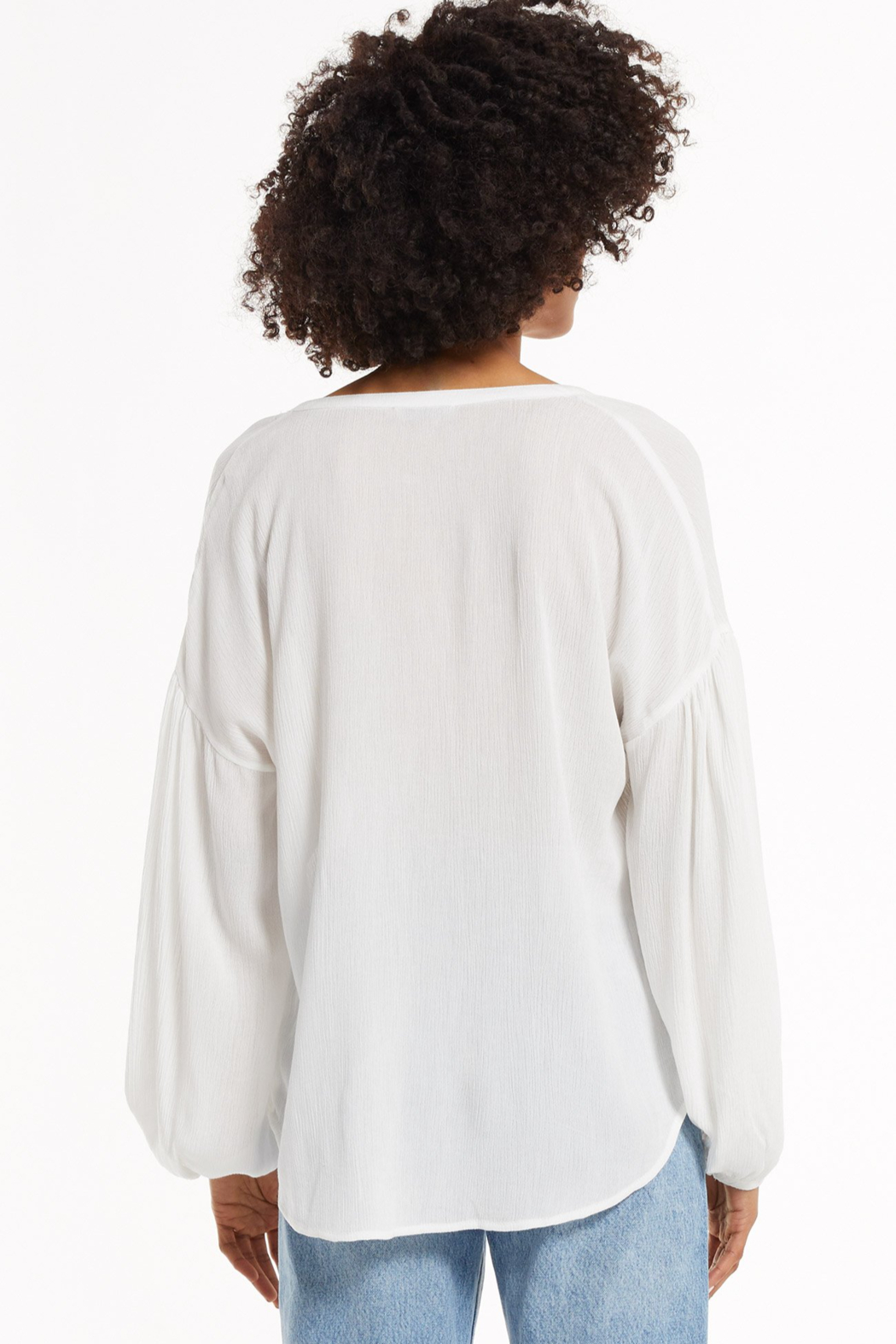 z supply Bayfront Woven Top - Back Cropped Image