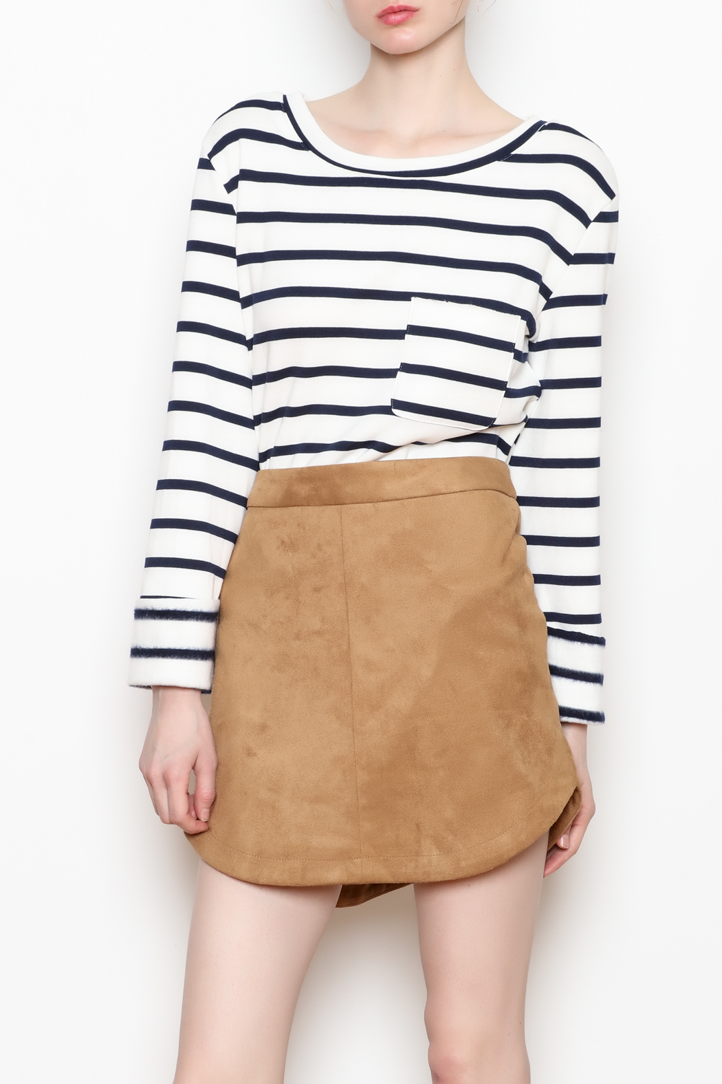BB Dakota Annette Suede Skirt - Front Cropped Image