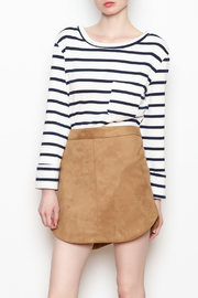 BB Dakota Annette Suede Skirt - Front cropped