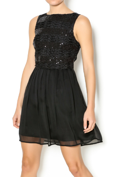 Shoptiques Product: Black Sequin Holiday Dress