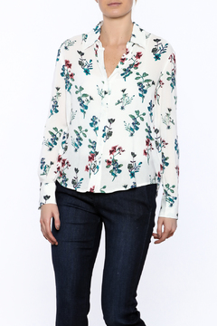 Shoptiques Product: Long Sleeve Floral Button-down