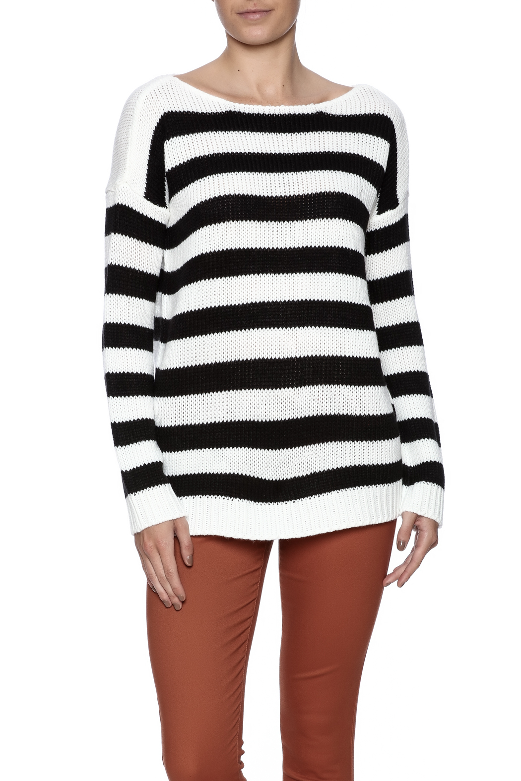 BB Dakota Long Sleeve Sweater - Front Cropped Image