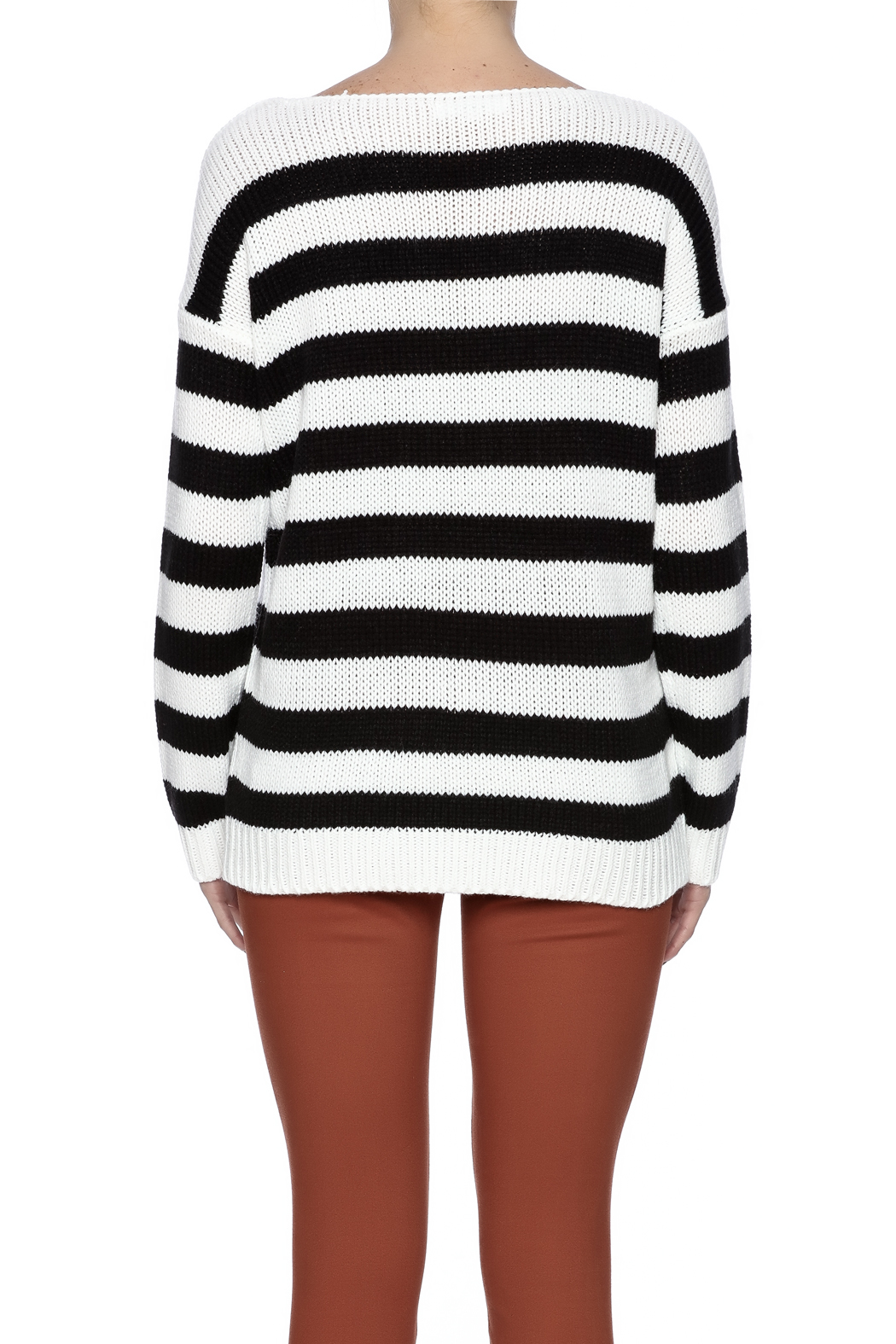 BB Dakota Long Sleeve Sweater - Back Cropped Image