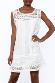 BB Dakota White Sleeveless Crochet Dress - Product Mini Image