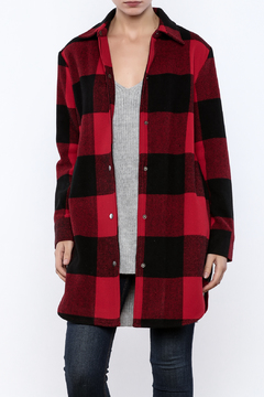 Shoptiques Product: Olive Plaid Coat