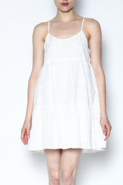 BB Dakota White Ruffle Dress - Product Mini Image
