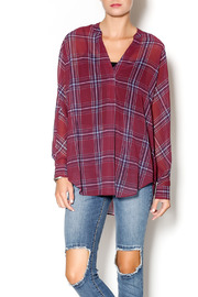 Gentle Fawn West Plaid Blouse - Front cropped