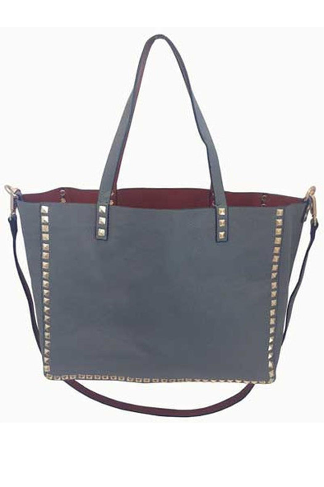 Inzi Studded Tote Front Cropped Image