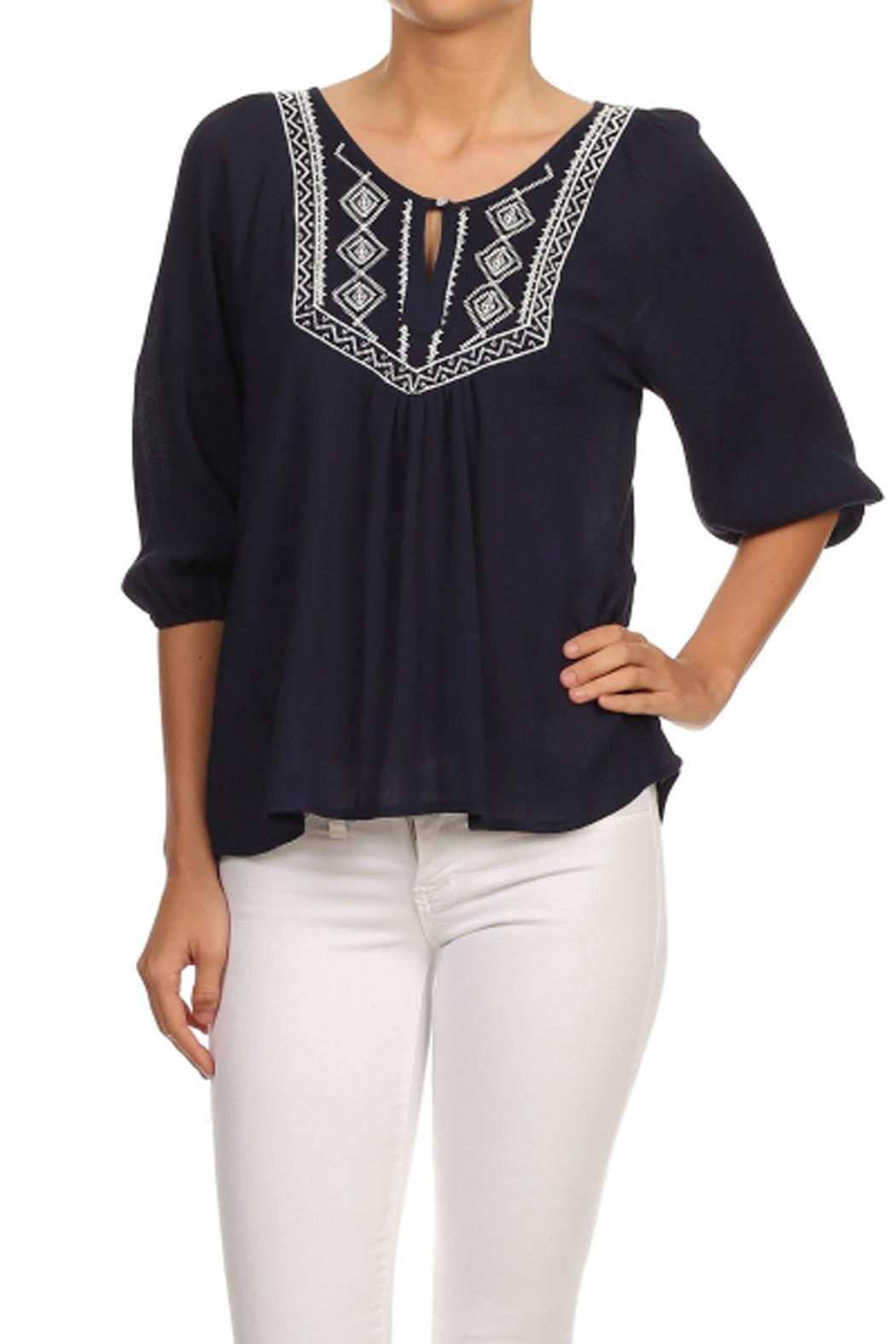 369af4ff07f Haute Monde Boho Embroidery Top from Orange County by Maple Boutique ...