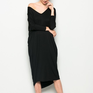 Shoptiques Product: Black V Neck Dress