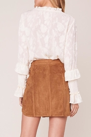BB Dakota Alright Faux-Leather Skirt - Back cropped
