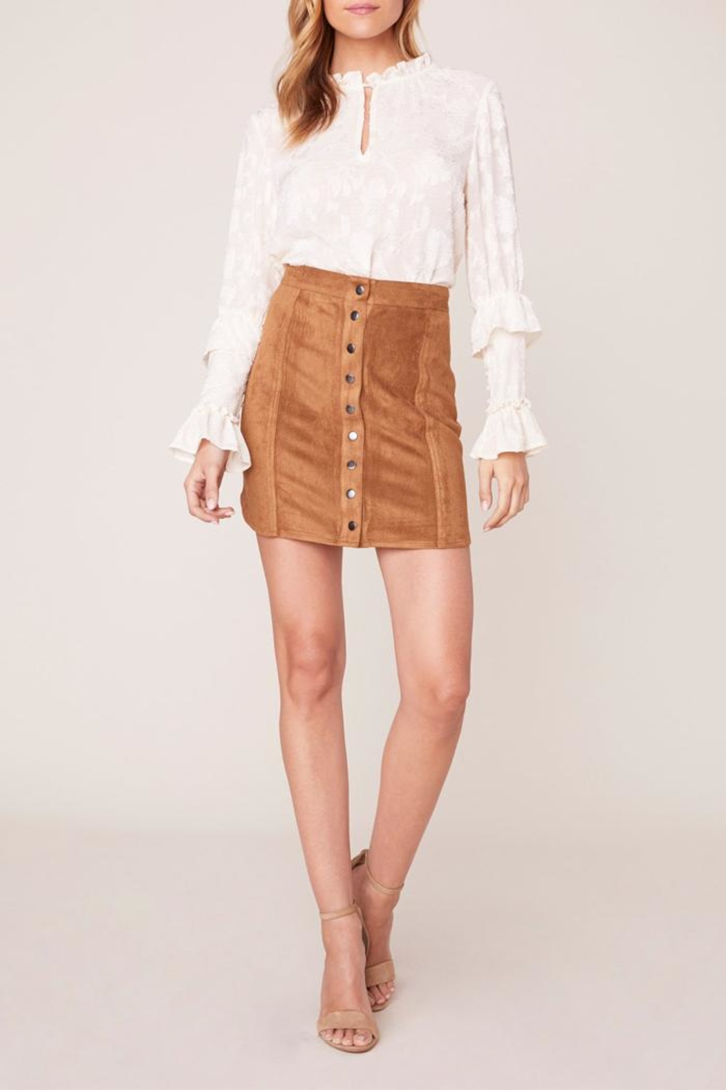 BB Dakota Alright Faux-Leather Skirt - Main Image
