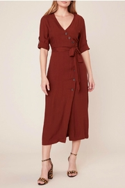 BB Dakota Asymmetrical Shirt Dress - Front cropped