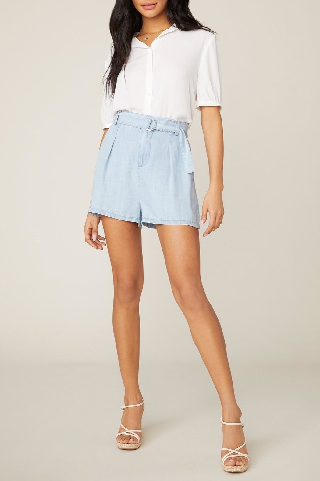 BB Dakota Belt-It-Up Shorts - Front Full Image