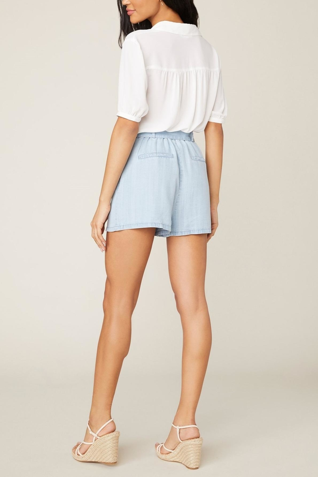 BB Dakota Belt-It-Up Shorts - Back Cropped Image