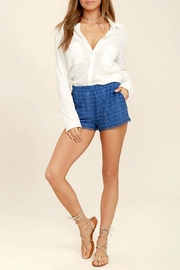 BB Dakota Cobalt Embroidered Short - Product Mini Image