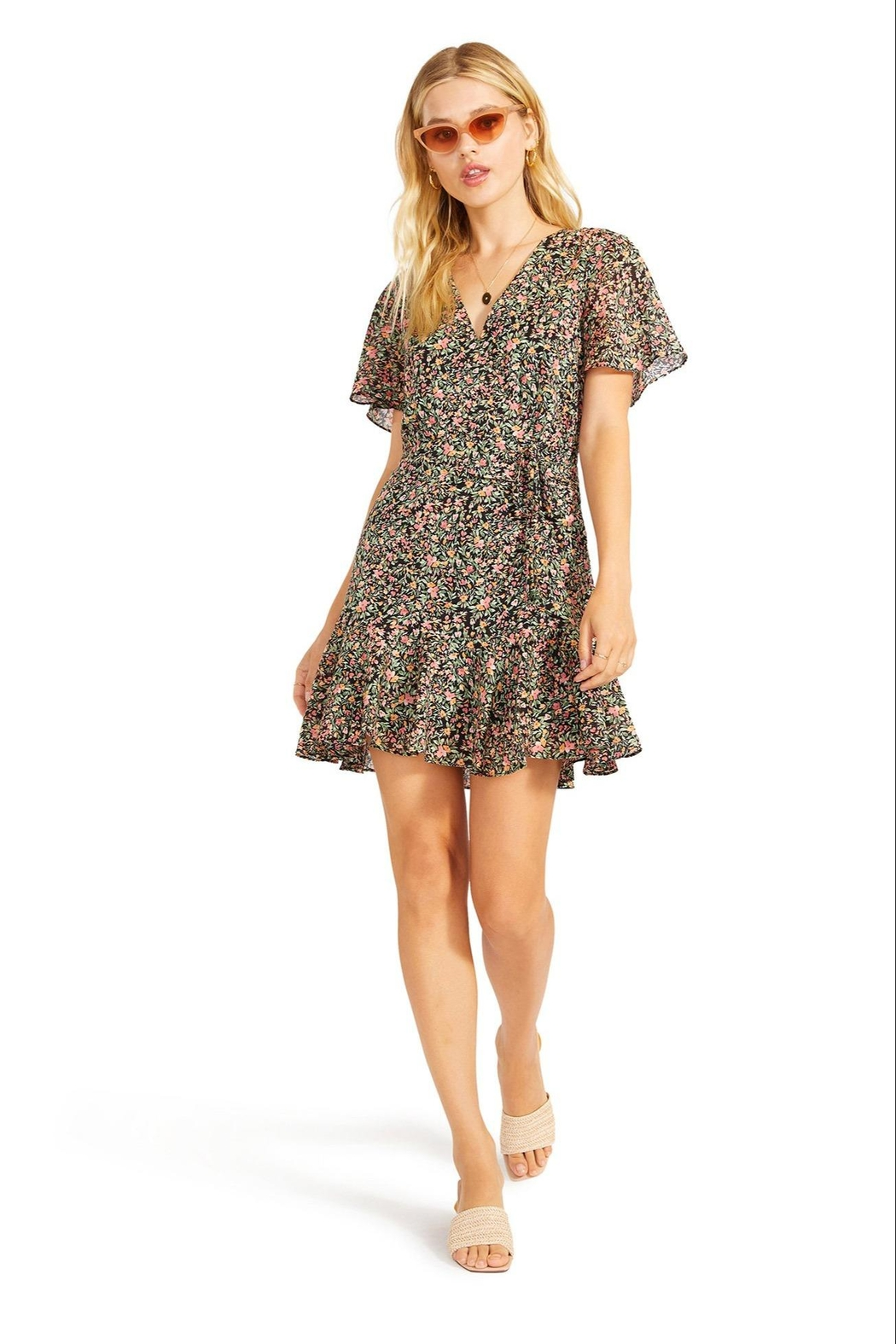 BB Dakota Counting Petals Dress - Front Cropped Image