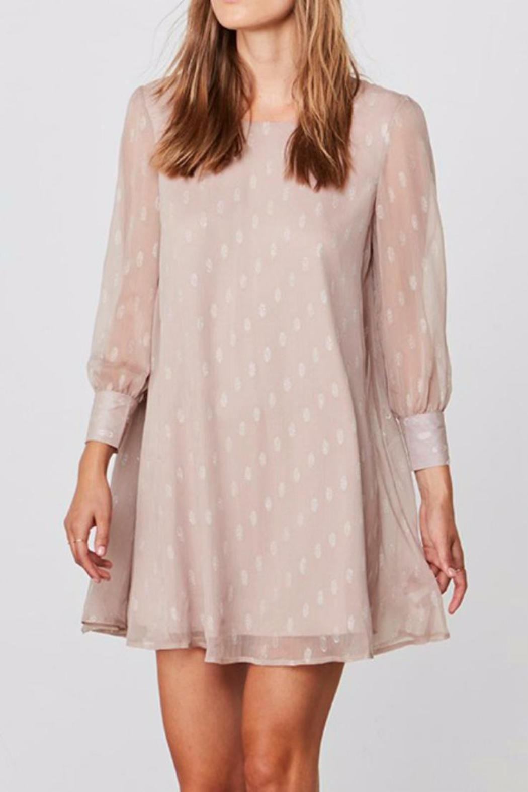 BB Dakota Crepe Shimmer Dress - Front Cropped Image