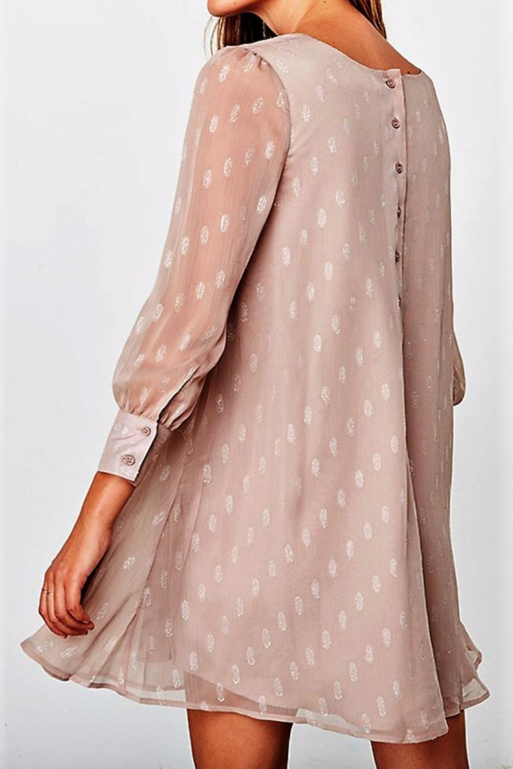 BB Dakota Crepe Shimmer Dress - Front Full Image