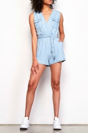 BB Dakota Deann Chambray Romper - Product Mini Image