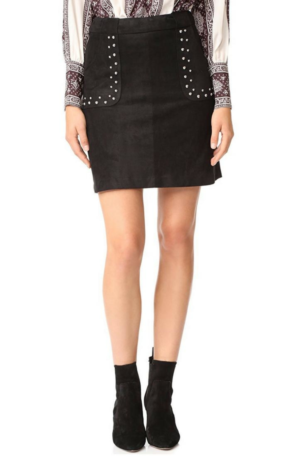 BB Dakota Faux Suede Skirt - Front Cropped Image