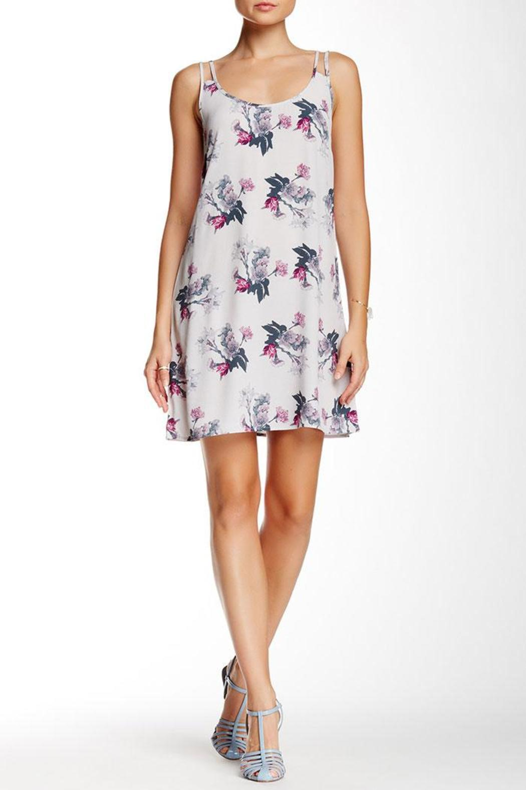 BB Dakota Floral Grey Dress - Main Image