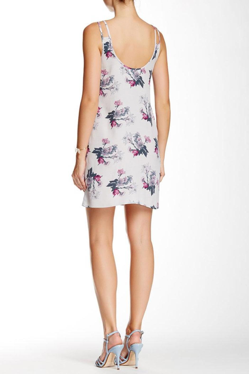 BB Dakota Floral Grey Dress - Front Full Image