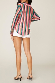 BB Dakota Hue-Are-You Striped Top - Back cropped