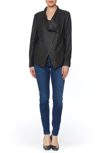 Shoptiques Product: Kenrick Draped Leather Jacket  - main