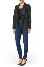 Shoptiques Product: Kenrick Draped Leather Jacket  - Front full body