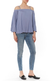 BB Dakota Aebe Blue Top - Front cropped