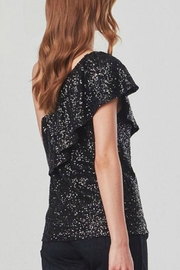 BB Dakota One Shoulder Sequin Top - Front full body